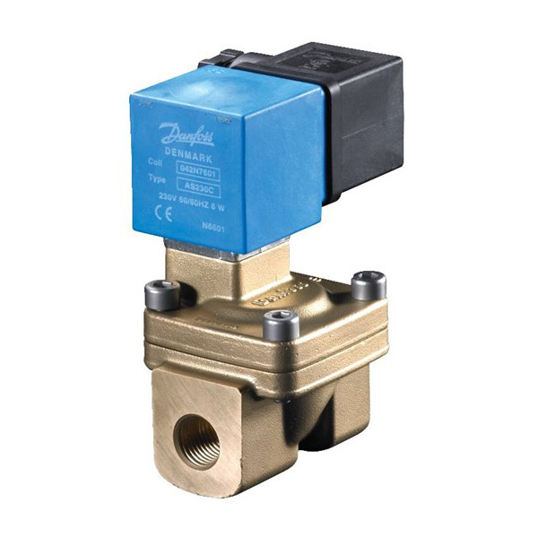 EV220W (10-50 series), NBR, Servo-operated 2/2-way solenoid valves