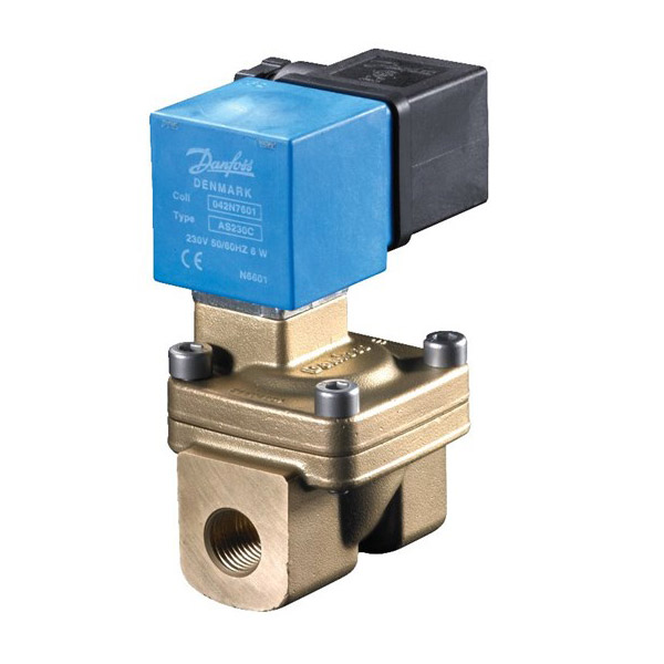 EV222B, Servo-operated 2/2-way solenoid valves with isolating diaphragm
