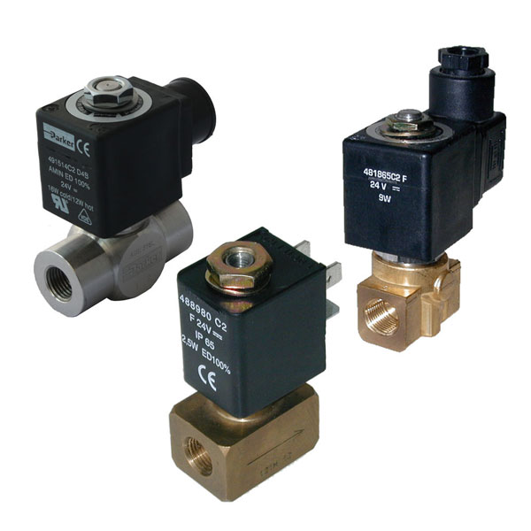 "PARKER 2-WAY NORMALLY CLOSED, 1/8"" GENERAL PURPOSE SOLENOID VALVES"