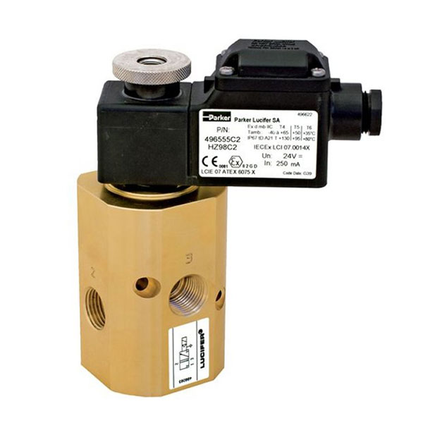 "PARKER 3-WAY NORMALLY CLOSED, 1/2"" GENERAL PURPOSE SOLENOID VALVES"