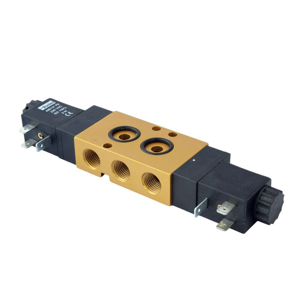 "PARKER 5-WAY EXHAUSTED IN CENTER POSITION, 1/4"" GENERAL PURPOSE SOLENOID VALVES"